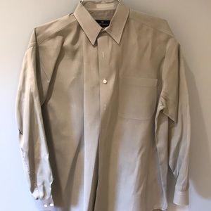 Hickey Freeman Sport olive green button down shirt
